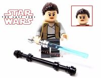 Lego Star Wars The Last Jedi - Rey with. staff & lightsaber from set 75200