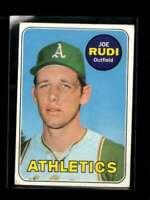 1969 TOPPS #587 JOE RUDI GOOD+ RC ROOKIE ATHLETICS