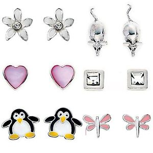925 Sterling Silver Studs Earrings Designs Girls Womens Childrens Gift Boxed - E
