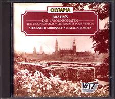 Alexander SHIRINSKY: BRAHMS Violin Sonata No.1 2 3 Natalia ROZOVA CD Olympia