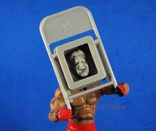 WWE WWF Wrestling Jakks Accessory Action Figure Chair Grey FACE IMPRINT K880_B