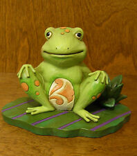 Jim Shore Heartwood Creek #4037670 FROG ON LILY PAD, BOUNCE WITH ME, Enesco NIB