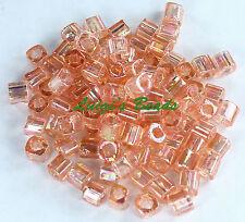 15 grams Trans-Rainbow Rosaline #169- TOHO Japan Cube Glass Seed Beads 4mm