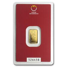2 gram Gold Bar - Austrian Mint (In Assay) - SKU #78376