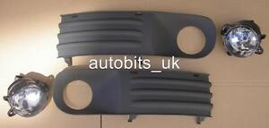 FOR VOLKSWAGEN VW T5 TRANSPORTER 2003-2010 BUMPER LIGHT FOG LAMPS GRILL KIT