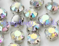= 144 pcs SS16 (4mm) Sew-on Silver Cup AB Crystal Rhinestone Loose Beads Crafts