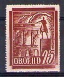POLOGNE Oflag Camp de Gross Born Fischer timbre n° 25 neuf sans charnière