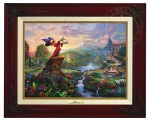 Thomas Kinkade Studios Fantasia 12 x 16 Canvas Classic (Brandy Frame)