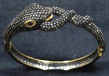 Victorian 6.51ct Rose Cut Diamond Ruby Snake Wedding Pretty Bracelet VTJ EHS