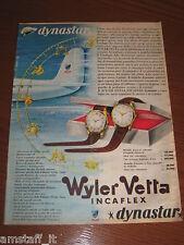 *228=WYLER VETTA OROLOGIO=ANNI '60=PUBBLICITA'=ADVERTISING=WERBUNG=PUBLICITE=
