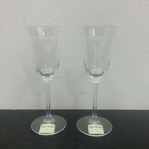 Two Wedgwood Vera Wang Grosgrain Wine/Water Glasses Goblets
