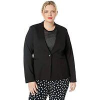 RACHEL Rachel Roy Women's Plus Size Ponte Blazer (Black, 2X)