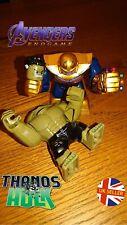 Avengers Mini Figure Thanos Vs Hulk Set End Game Marvel Gauntlet UK Seller