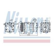 Fits Fiat Scudo 2.0 D Multijet Genuine OE Quality Nissens A/C Air Con Compressor