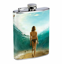 Flask Parting The Sea 01R 8oz Stainless Steel Hip Drinking Whiskey