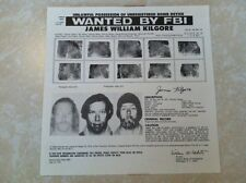 SYMBIONESE LIBERATION ARMY JAMES WILLIAM KILGORE FBI WANTED POSTER *PLS OFFER*