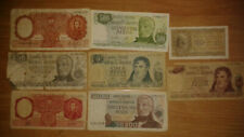 Argentina lot 8 different notes - F condition
