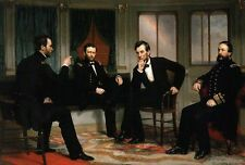 The Peacemakers Painting Abraham Lincoln General Grant Sherman - Modern Postcard