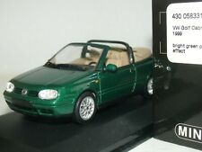 WOW EXTREMELY RARE VW Golf IV 4 Cabriolet 2.0 8V 1999 Green 1:43 Minichamps-R32