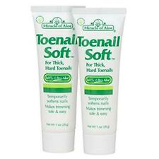Miracle of Aloe Toenail Soft 1 Oz - 2 Pack Temporary Nail Softening Cream