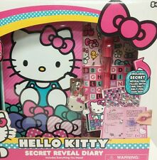 NEW HELLO KITTY Secret Reveal Locking Kids Pink Diary 120 Page Stickers Pen