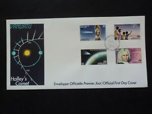 Vanuatu First day covers FDC 1985 Halley's comet