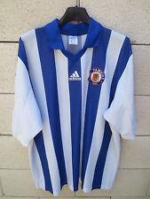 VINTAGE Maillot porté n°5 F.C PAMIERS 1949 Adidas match worn shirt bleu blanc XL