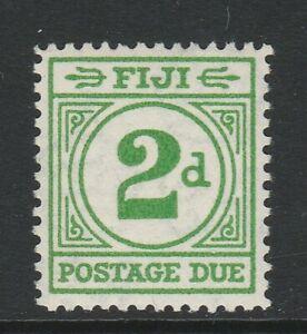 Fiji 1940 George VI 2d Emerald-green SG D12 Mint.