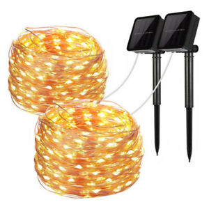 200 LED Solar Power Fairy Lights String Lamps Party Wedding Decor Garden Outdoor