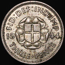 More details for 1944 | george vi threepence 'key date' | silver | coins | km coins
