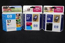 2 HP 57 Tri-Color Inkjet Cartridges & 1 HP 56 Black Inkjet Cartridge - SEALED!