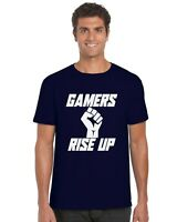 Gamers Rise Up Gaming Kids T-Shirt Tee Top Ages 3-13