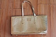Versace Parfums Bag BIG Tote BEACH /Gym/PICNIC/ BABY Bag Gold  CUTE