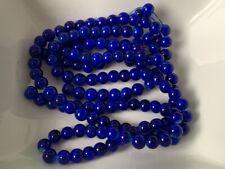 Glaswachsperlen Perlen orange blau MATT 6 mm 136 Stück Schmuck Basteln 162