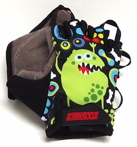 ZippyRooz Monsters Toddler/ Little Kids Bike Glove Sport Half Finger Girls Boys