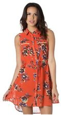 MISS ME Floral Blooming Creation Dress Poppy Red M NWT MDD160T Lace