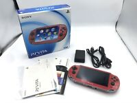 Sony PS Vita Red PCH-1000 Playstation Wi-Fi w/ Charger + Box Used [Excellent]