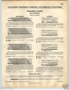 1932 PAPER AD Heddon President Fly Fishing Split Bamboo Rod Glorie West Cross