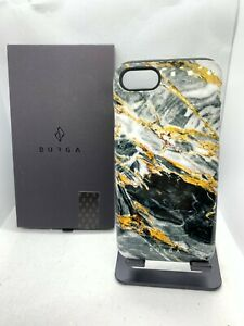 Burga iPhone SE 2020 / 7 / 8 Black Gold Onyx Marble Shockproof Case