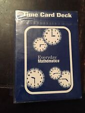 SRA McGraw-Hill Everyday Mathematics Time Card Deck NEW 0075728664