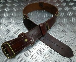 Genuine British Military Leather Sam Browne Belt Without Crossover Strap FXB