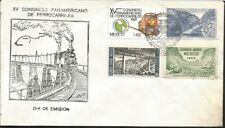 J) 1960 MEXICO, XV PAN AMERICAN CONGRESS OF RAILWAYS, MAP, BRIDGE, MULTIPLE STAM