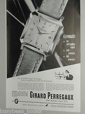 1952 Girard Perregaux Watch advertisement, Gyromatic wristwatch