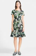 Dolce & Gabbana  Orange Blossom Print Cotton Fit & Flare Dress ( Size 40- US 4)