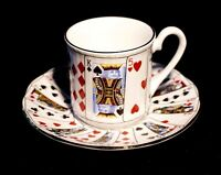 Queens China Cut For Coffee Demitasse And Saucer
