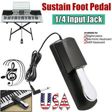Universal Electronic Piano Keyboard Support Sustain Foot Pedal Polarity Switch
