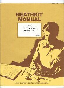 HEATHKIT BYTE PROBE Model ID-4804 Instruction MANUAL 1985 Heath Co. ZENITH Vtg