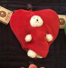 """Boyds Bears """"PEEKER OF THE MONTH"""" Calendar February Heart With Tags"""
