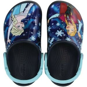 Brand New with tags Crocs™ Fun Lab Frozen™ Clogs Kids Toddler - Navy Size 6
