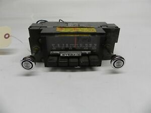 1973 FORD VINTAGE USED AM/FM/STEREO RADIO W/ ORIGINAL KNOBS UNTESTED D3AA-19A241